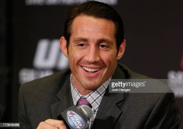 Tim Kennedy interacts with media during the final UFC 162 press conference at the MGM Grand Hotel/Casino on July 4 2013 in Las Vegas Nevada