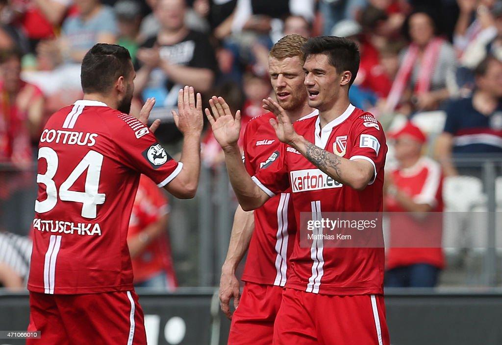 Energie Cottbus v Stuttgarter Kickers  - 3. Liga