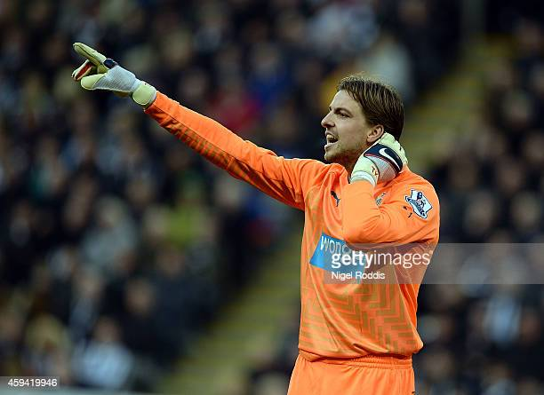 Tim Krul of Newcastle United during the Barclays Premier League football match between Newcastle United and Queeens Park Rangers at St James' Park on...