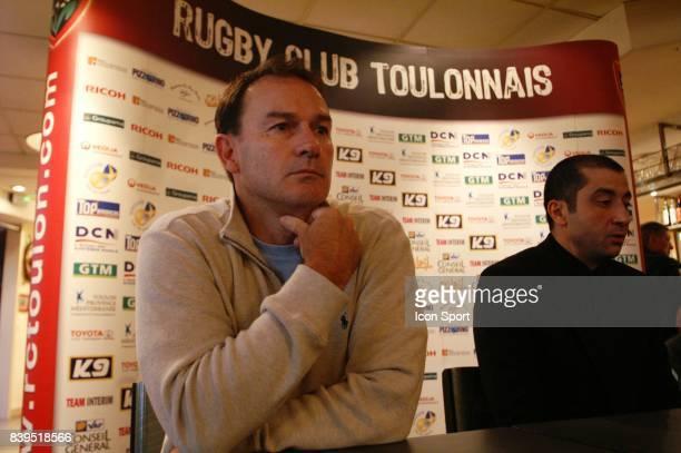 Tim LANE / Mourad BOUDJELLAL - - Conference de presse - Toulon,