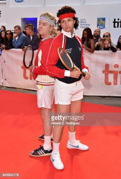 Tim League and Tom Quinn attend the 'Borg/McEnroe' premiere during the 2017 Toronto International Film Festival at Roy Thomson Hall on September 7...
