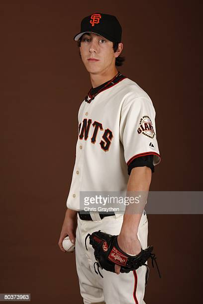 Tim Lincecum of the San Francisco Giants poses for a photo during Spring Training Photo Day at Scottsdale Stadium in Scottsdale Arizona