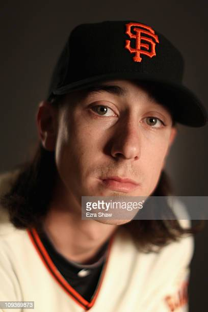 Tim Lincecum of the San Francisco Giants poses for a portrait during media photo day at Scottsdale Stadium on February 23 2011 in Scottsdale Arizona