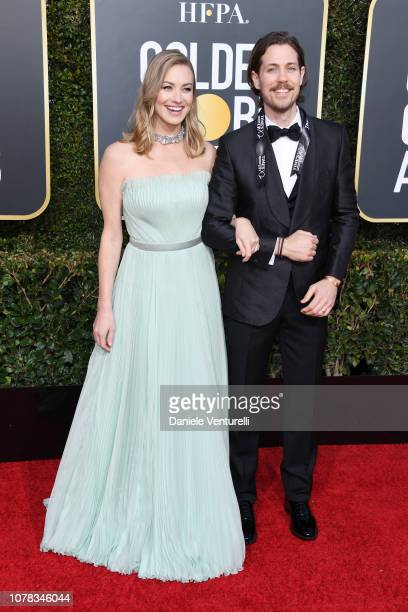 Tim Loden and Yvonne Strahovski attend the 76th Annual Golden Globe Awards at The Beverly Hilton Hotel on January 6, 2019 in Beverly Hills,...