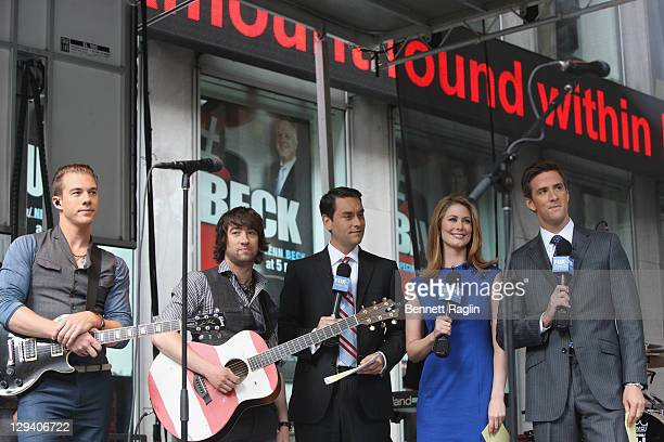 Tim Lopez Tom Higgenson Clayton Morris Molly Lyons and Dave Brick attend FOX Friends at FOX Studios on May 27 2011 in New York City