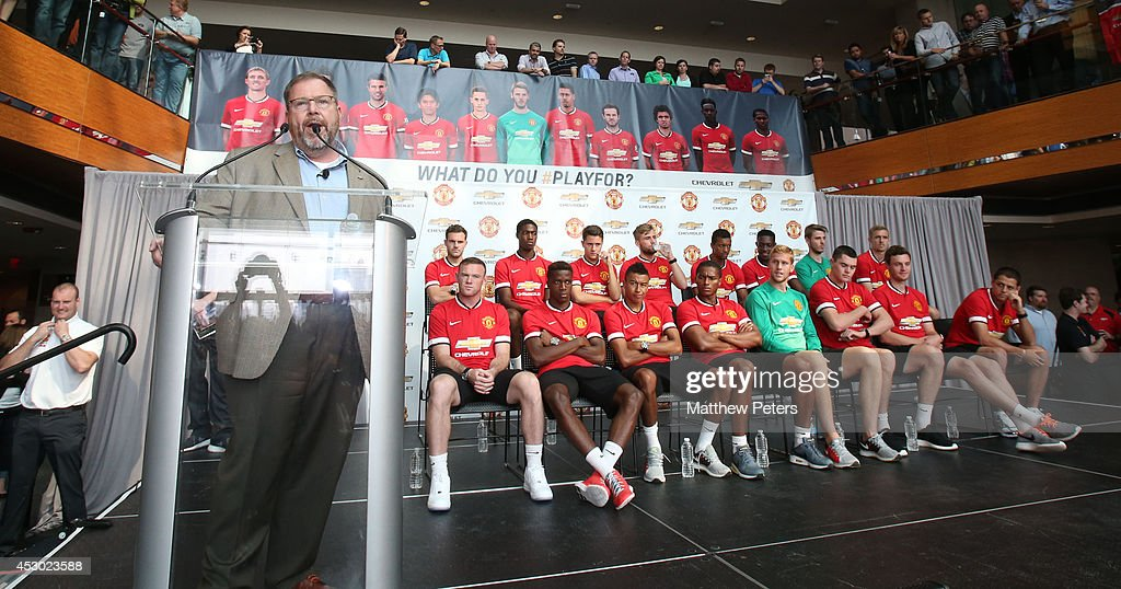 Manchester United FC Players Visit General Motors HQ In Detroit : News Photo