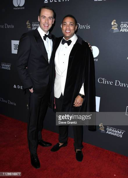 Tim Malone and Don Lemon arrives at the The Recording Academy And Clive Davis' 2019 PreGRAMMY Gala at The Beverly Hilton Hotel on February 09 2019 in...