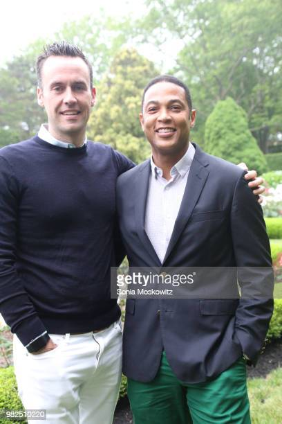 Tim Malone and Don Lemon attend the 12th Annual Get Wild Summer Benefit on June 23 2018 in Southampton New York