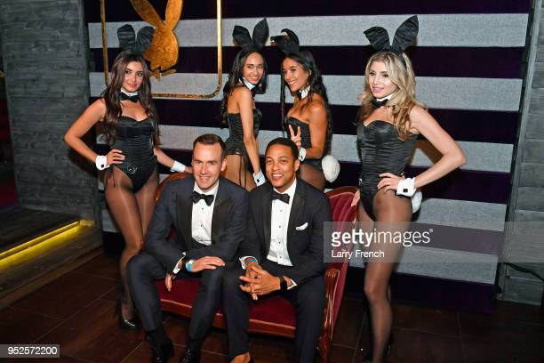 Tim Malone and journalist Don Lemon attend the Playboy Presents No Tie Party at The Living Room on April 28 2018 in Washington DC