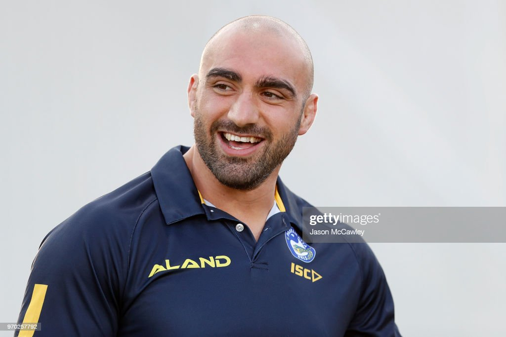 Tim Mannah of the Eels looks on prior to the round 14 NRL match between the Parramatta Eels and the North Queensland Cowboys at TIO Stadium on June 9, 2018 in Darwin, Australia.