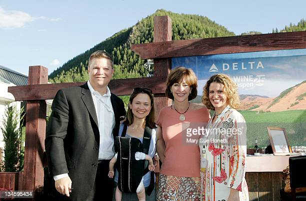 Tim Mapes Managing Directior of Marketing at Delta Air Lines Andrea Robinson Master Sommelier for Delta Air lines JoAnne Smith Senior Vice President...