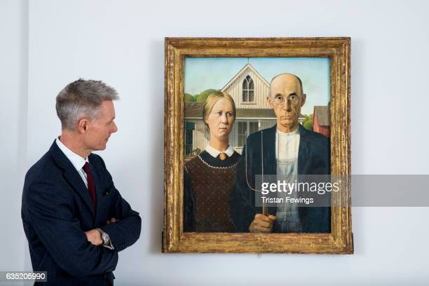 Tim Marlow Artistic Director At The Royal Academy Of Arts Stands Next To Iconic Painting