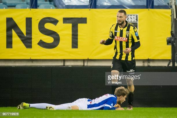 Tim Matavz of Vitesse 10 during the Dutch Eredivisie match between Vitesse Arnhem and sc Heerenveen at Gelredome on January 20 2018 in Arnhem The...