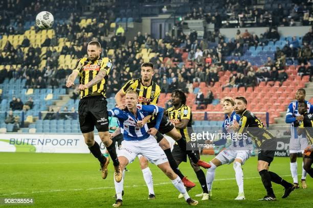 Tim Matavz of Vitesse Henk Veerman of sc Heerenveen Matt Miazga of Vitesse Fankaty Dabo of Vitesse Daniel Hoegh of sc Heerenveen Guram Kashia of...