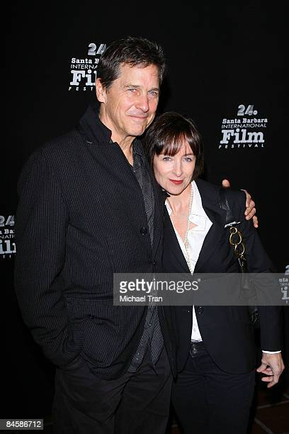 Tim Matheson and wife Megan Murphy Matheson arrive to the 24th Annual Santa Barbara Film Festival welcoming David Fincher for Director In Residence...