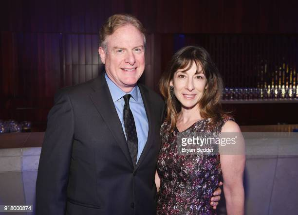 Tim McClimon and Suzanne Burman attends the Winter Gala at Lincoln Center at Alice Tully Hall on February 13 2018 in New York City