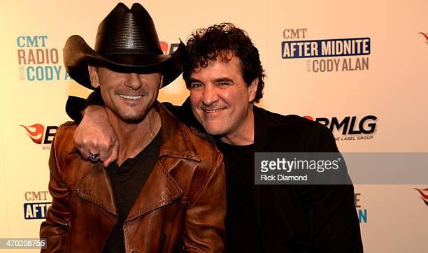 Tim McGraw and Big Machine Label Group President CEO Scott Borchetta attend the 2014 Big Machine Label Group Show At Country Radio Seminar on...