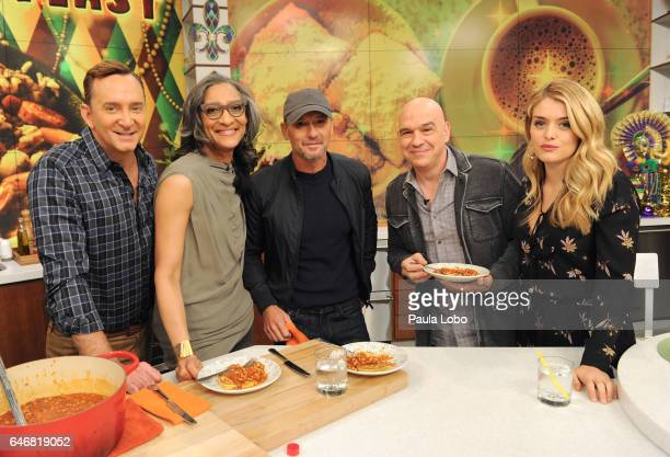 THE CHEW Tim McGraw and Duff Goldman help celebrate Fat Tuesday February 28 2017 on ABC's 'The Chew' 'The Chew' airs MONDAY FRIDAY on the ABC...