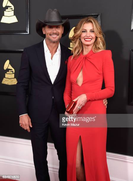 Tim McGraw and Faith Hill attend The 59th GRAMMY Awards at STAPLES Center on February 12 2017 in Los Angeles California