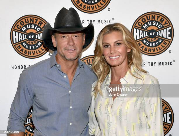 Tim McGraw and Faith Hill attend the All Access program at The Country Music Hall Of Fame And Museum's CMA Theater on May 3 2018 in Nashville...