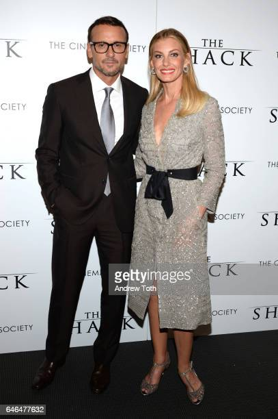Tim McGraw and Faith Hill attend the world premiere of 'The Shack' hosted by Lionsgate at Museum of Modern Art on February 28 2017 in New York City