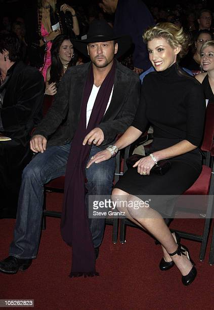 Tim McGraw and Faith Hill during 31st Annual American Music Awards Audience and Backstage at The Shrine Theater in Los Angeles California United...