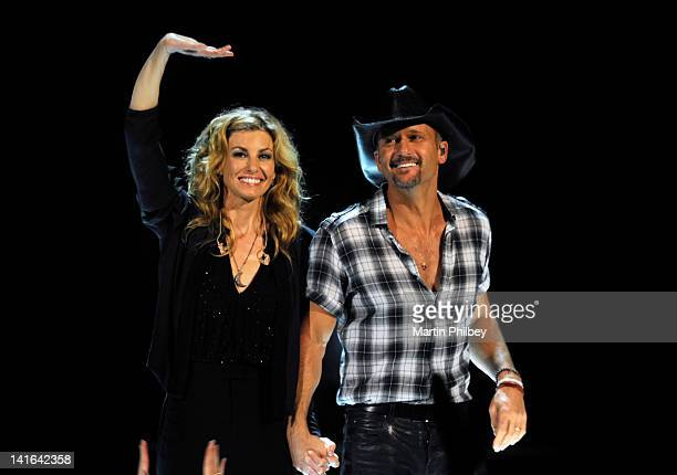 Tim McGraw and Faith Hill perform live in concert at the Rod Laver Arena on March 20 in Melbourne Australia