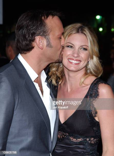 """Tim McGraw and wife Faith Hill during """"Friday Night Lights"""" - World Premiere at Grauman's Chinese Theatre in Hollywood, California, United States."""