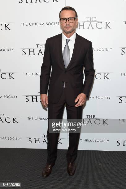 Tim McGraw attends Lionsgate Hosts the World Premiere of 'The Shack' at the Museum of Modern Art on February 28 2017 in New York City