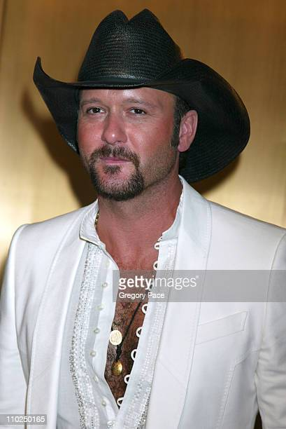 Tim McGraw during 2005 Fashion Rocks Red Carpet Arrivals at Radio City Music Hall in New York City New York United States