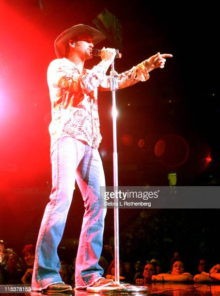 Tim McGraw during Tim McGraw and the Dancehall Doctors One Band Show Tour at Continental Airlines Arena in East Rutherfodrd NJ United States