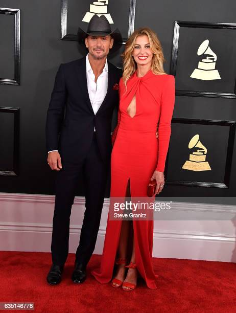 Tim McGraw Faith Hill arrives at the 59th GRAMMY Awards on February 12 2017 in Los Angeles California