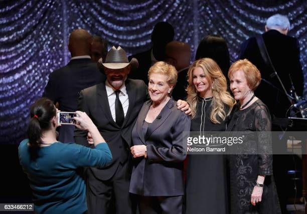 Tim McGraw Julie Andrews Faith Hill and Carol Burnett attend Lincoln Center's American Songbook Gala at Alice Tully Hall on February 1 2017 in New...