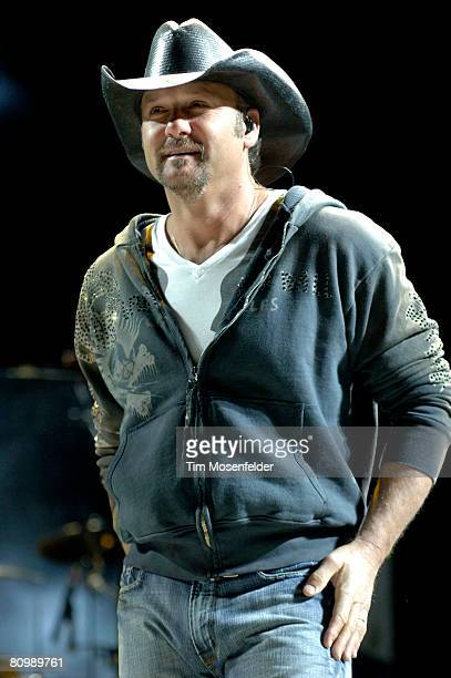 Tim McGraw performs as part of the Stagecoach Music Festival at the Empire Polo Fields on May 4, 2008 in Indio, California.