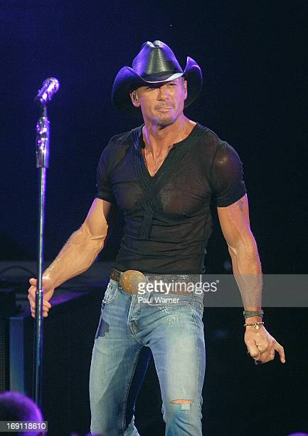 Tim McGraw performs at DTE Energy Center on May 19 2013 in Clarkston Michigan
