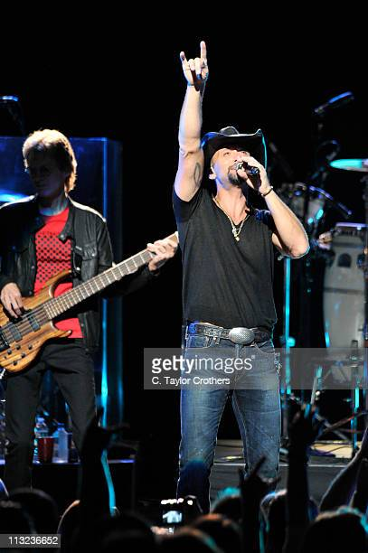 Tim McGraw performs at the Beacon Theatre celebrating 10 years of SiriusXM broadcasting the best in country music on April 27 2011 in New York City