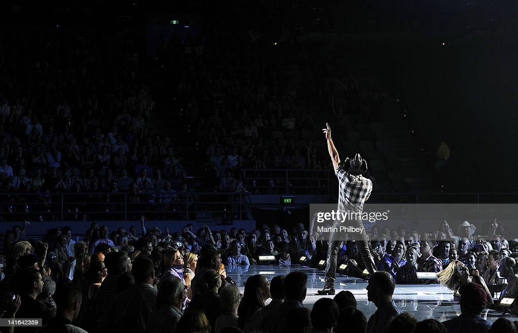 Tim McGraw performs live in concert at the Rod Laver Arena on March 20, 2012, in Melbourne, Australia.