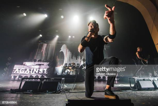 Tim McIlrath of Rise Against performs at O2 Academy Brixton on November 5 2017 in London England