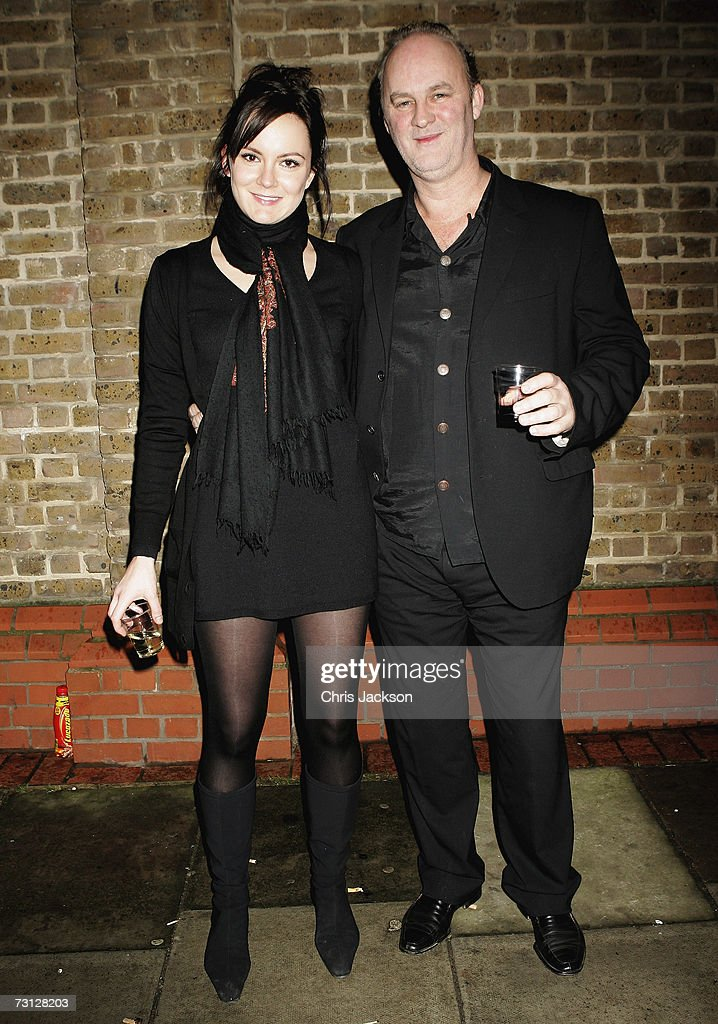 Tim McInnerny and Rachael Stirling pose for a photograph outside Wilton's Music Theatre during the Uncle Vanya after party on Jauary 26, 2007.