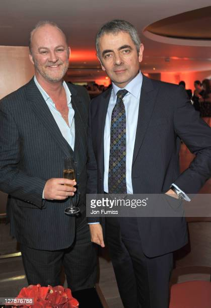 Tim McInnerny and Rowan Atkinson attend the 'Johnny English Reborn' UK premiere after party at Senkai on October 2, 2011 in London, England.