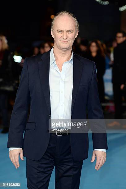 Tim McInnerny arrives for the European premiere of 'Eddie The Eagle' at Odeon Leicester Square on March 17 2016 in London England