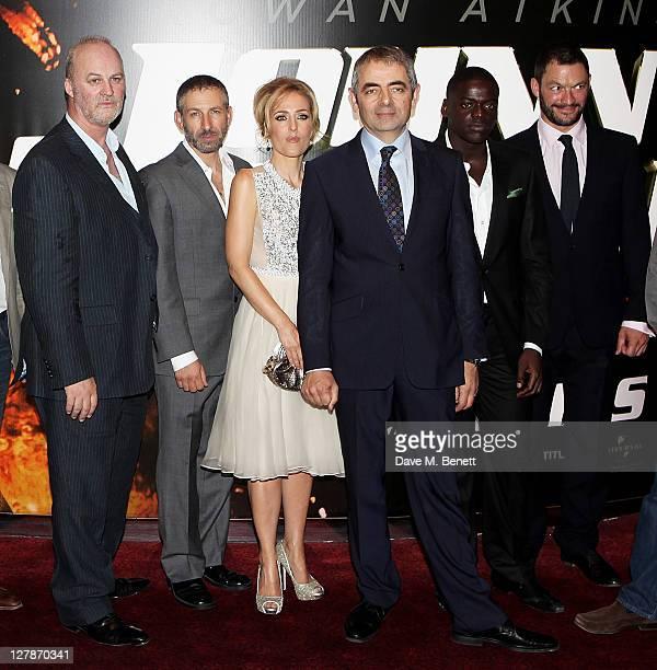 Tim McInnerny, Mark Ivanir, Gillian Anderson, Rowan Atkinson, Daniel Kaluuya, and Dominic West arrive at the UK Premiere of 'Johnny English Reborn'...