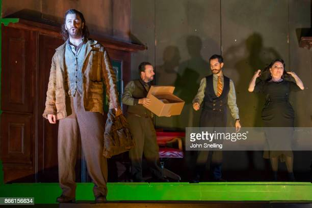 Tim Mead as Bertarido performs on stage in English National Opera's 'Rodelinda' photocall at The London Coliseum on October 24 2017 in London England