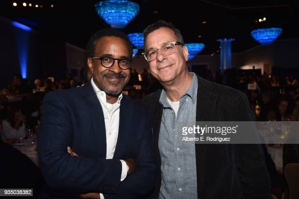 Tim Meadows and Rob Corn attend the Venice Family Clinic's 36th Annual Silver Circle Gal at The Beverly Hilton Hotel on March 19 2018 in Beverly...