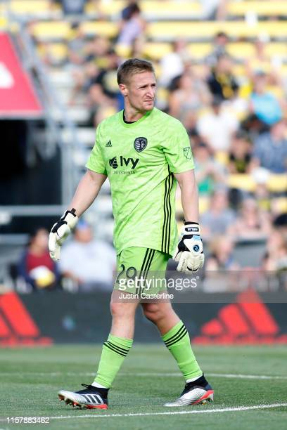 Tim Melia of the Sporting Kansas City in action during the game against the Columbus Crew SC at MAPFRE Stadium on June 23 2019 in Columbus Ohio