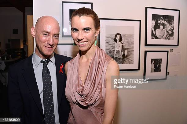 Tim Mendelson and Elizabeth Taylor's granddaughter Naomi Wilding attends The Elizabeth Taylor AIDS Foundation Art Auction Benefit Presented By...