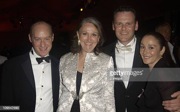 Tim Mendelson Sally Morrison and Jean Luc during 2003 Cannes Film Festival Cinema Against AIDS 2003 to benefit amfAR sponsored by Miramax Dinner at...