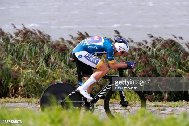 Tim Merlier of Belgium and Team Alpecin-Fenix Blue Leader Jersey competes during the 17th Benelux Tour 2021, Stage 2 a 11,1km Individual Time Trial...