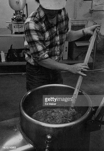 OCT 23 1979 NOV 7 1979 Tim Miller stirs caldron of jam made with honey A 9 ***** jar sells for $150 ion gourmet shops