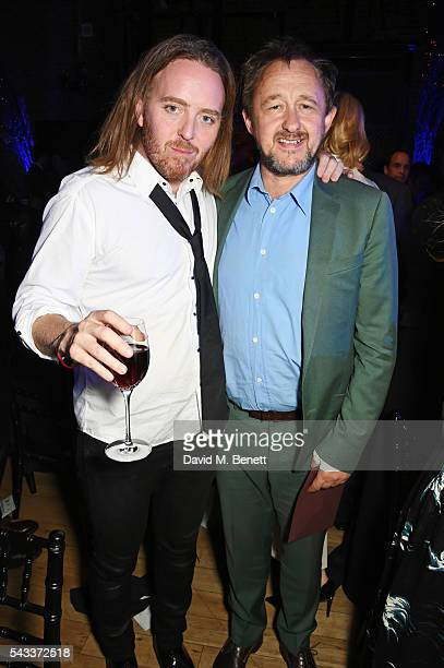 Tim Minchin and Andrew Upton attend the Summer Gala for The Old Vic at The Brewery on June 27 2016 in London England